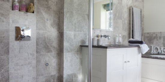 Tundra Honed Marble Bathroom