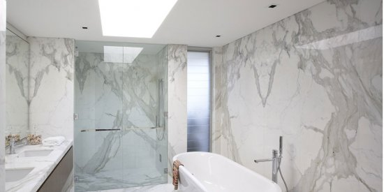 Calacutta Marble Bathroom